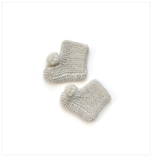 Alpaca Baby Booties I Grey color