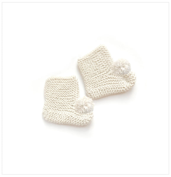 Alpaca Baby Booties I Cream color