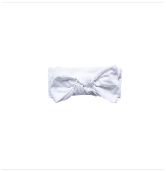 cashmere cotton jersey bow headband for baby