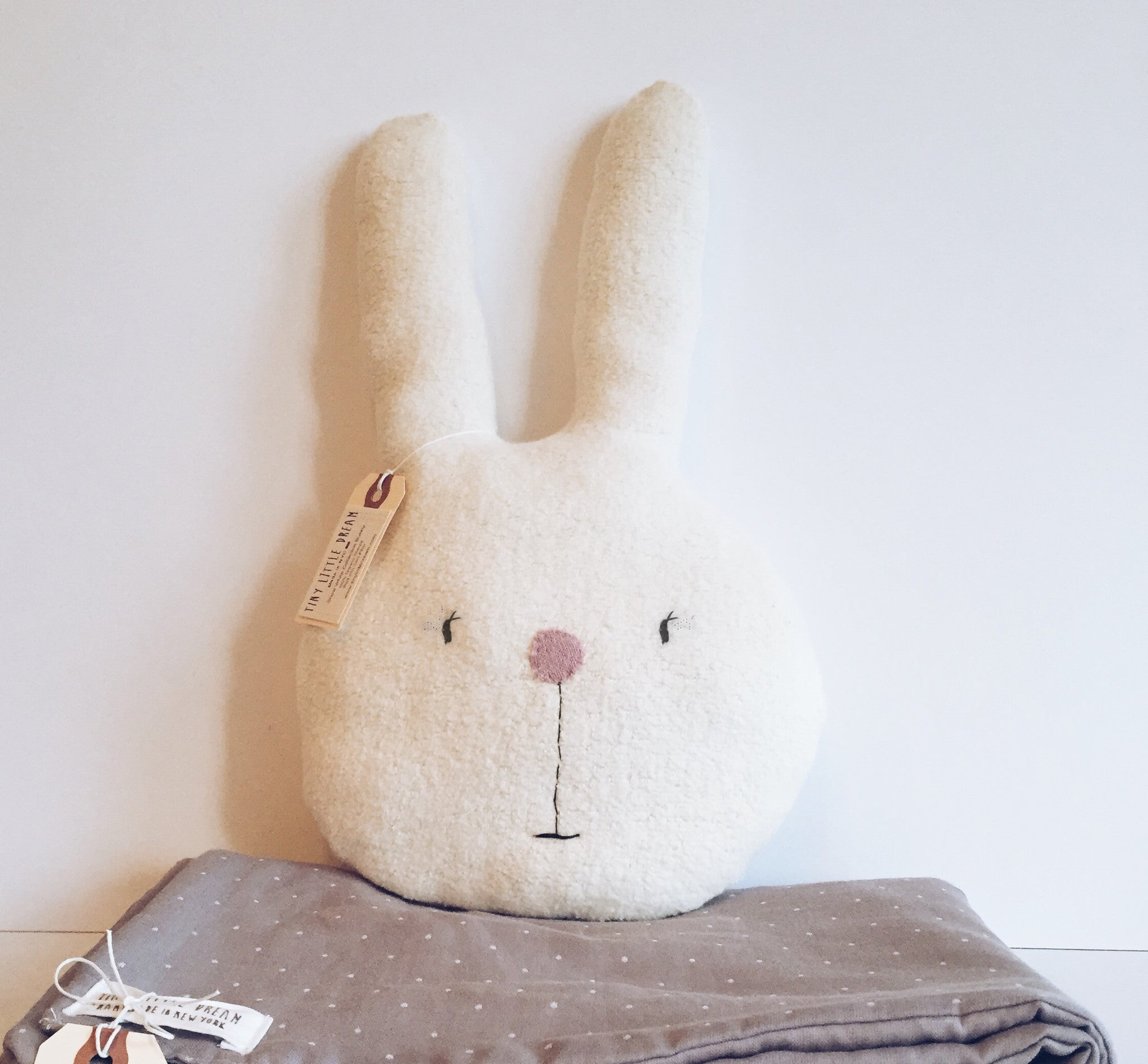 Sherpa Bunny Pillow-100% organic cotton