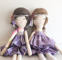 sophie and pinkie in lavender dress