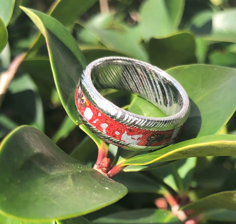 Customizable Men's Damascus Ring
