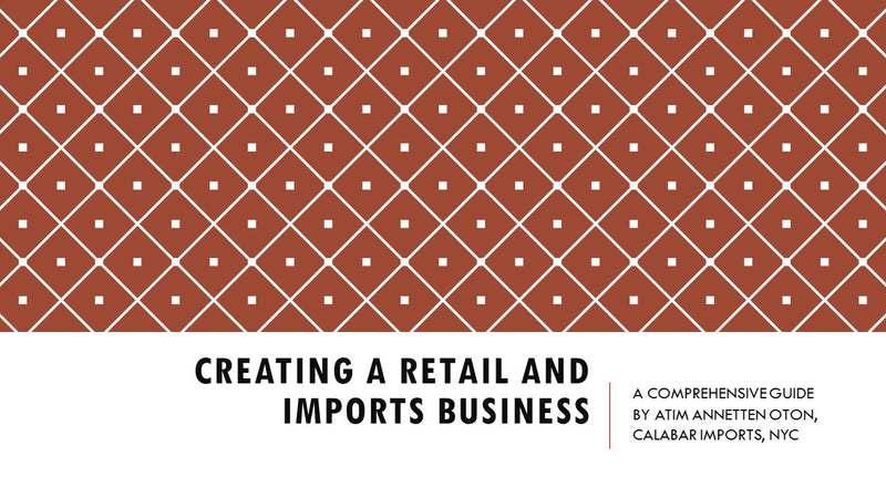 PDF FILE: Creating a Retail Store and Imports Business by Calabar Imports