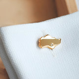 Singapore island cufflinks yellow gold