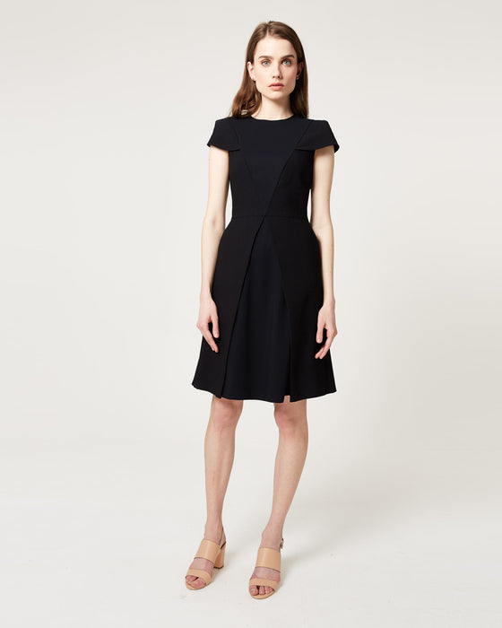 A-Game Dress Black Waffle