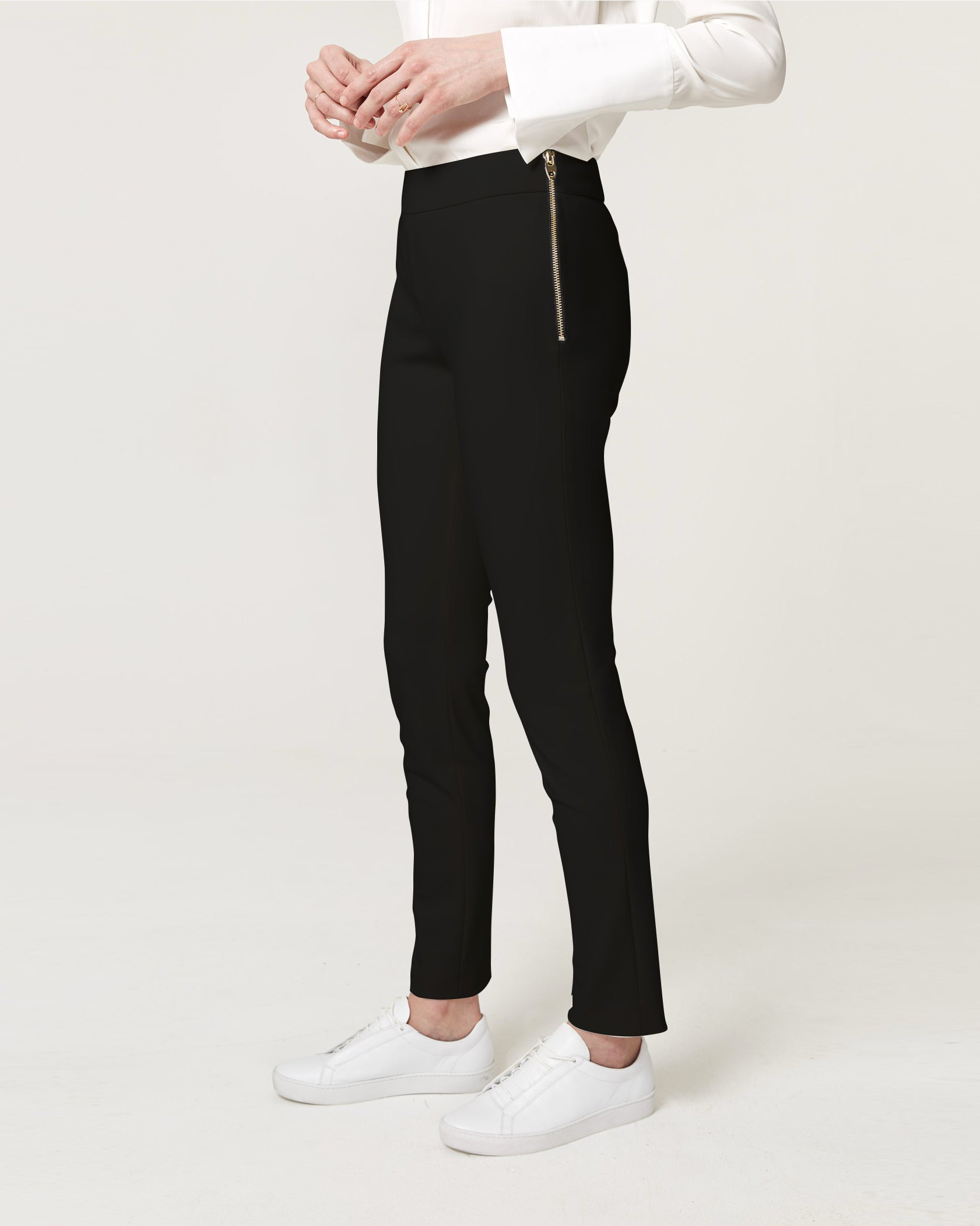 Straight Up Trousers Black