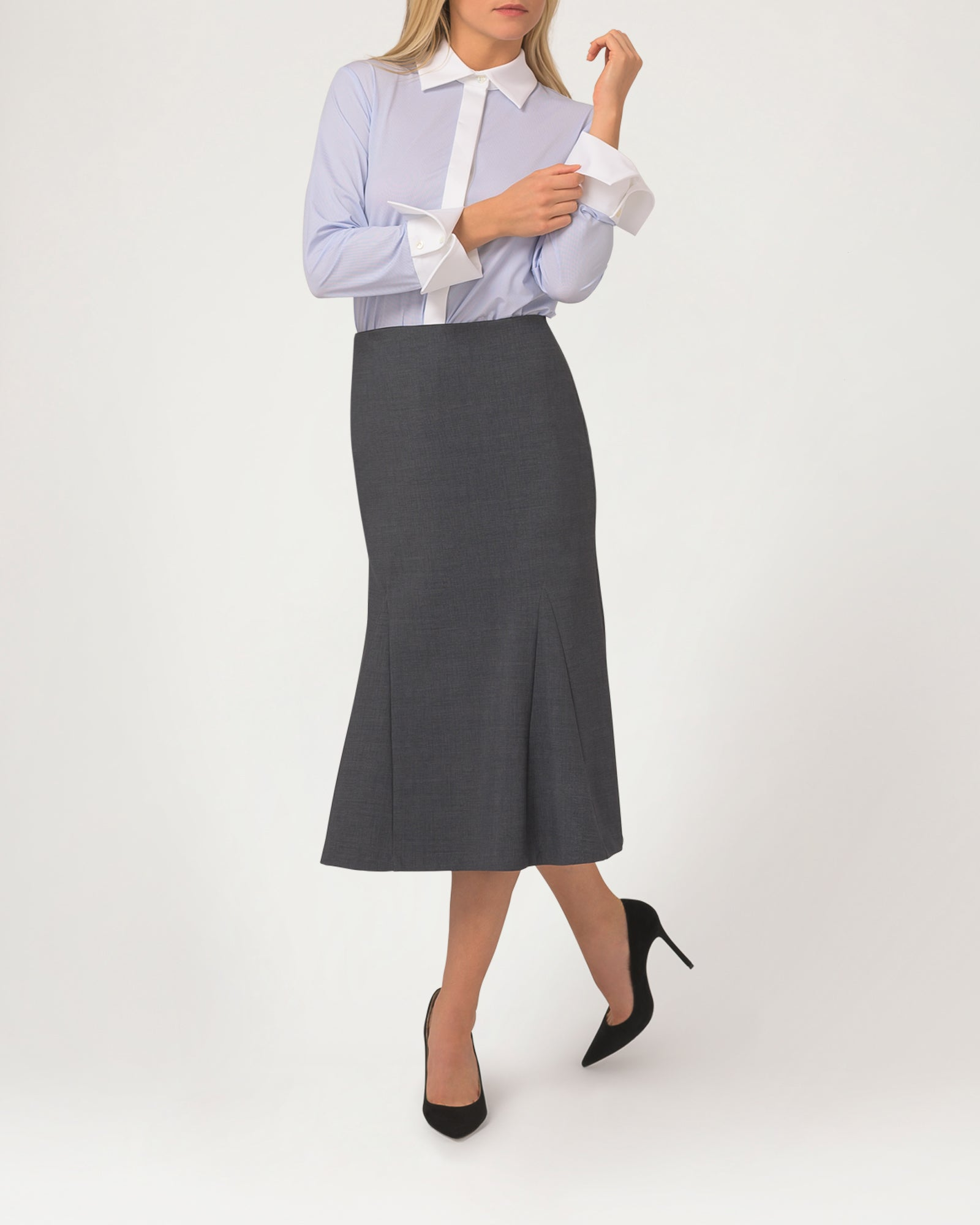 Notch Skirt Charcoal