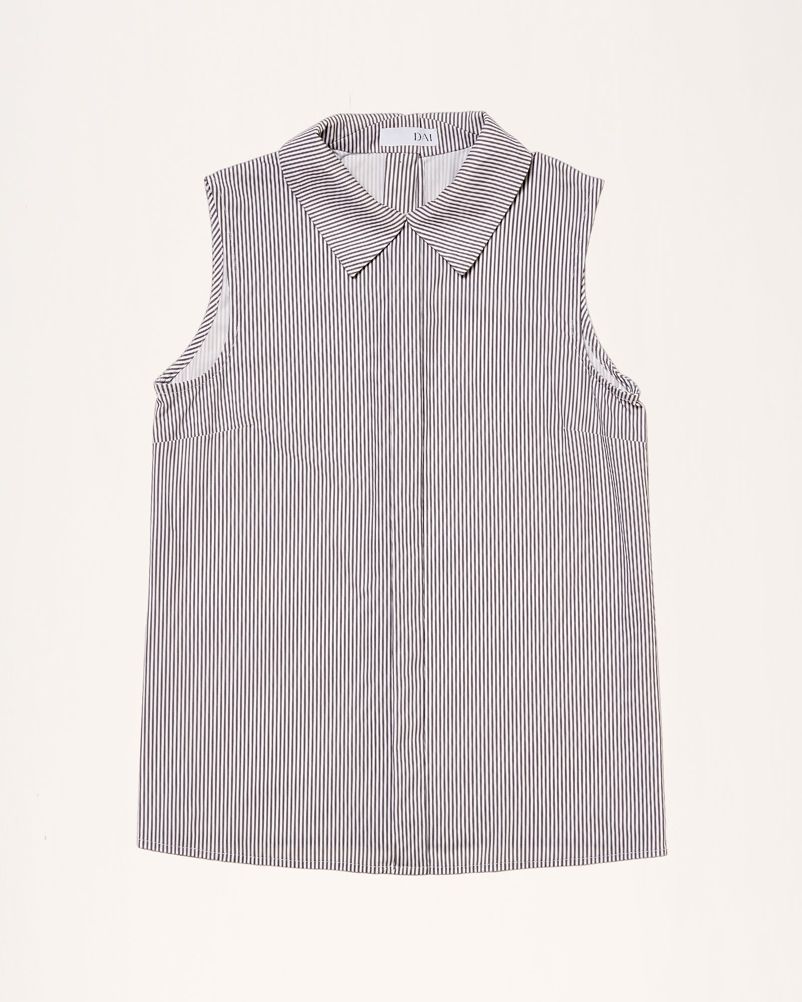 Back to Base Blouse Technical Grey Stripe