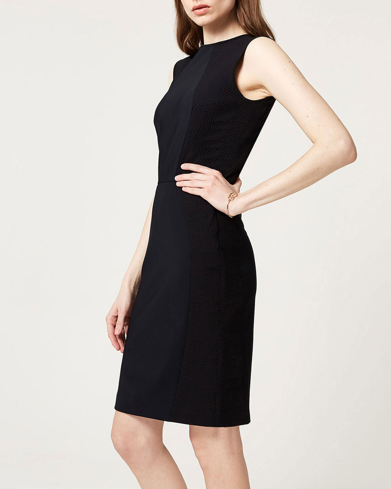 Elemental Dress Black Waffle