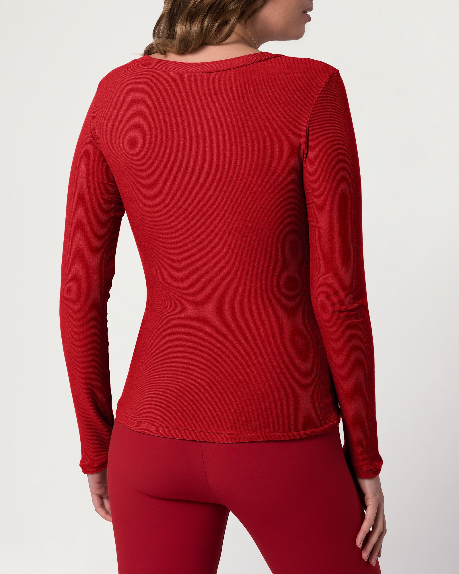 Eco V Neck Crimson
