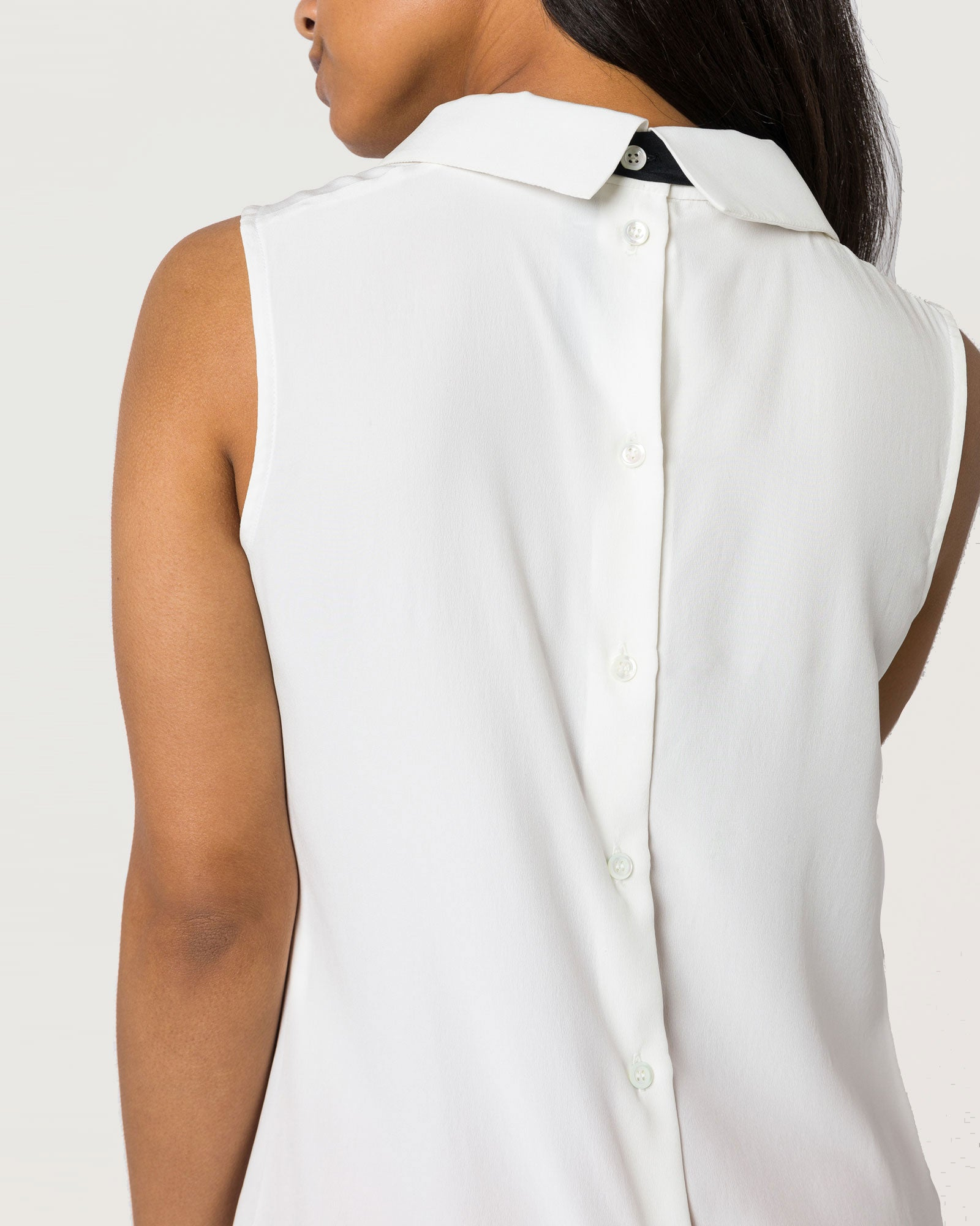 Back to Base Blouse Ivory Silk