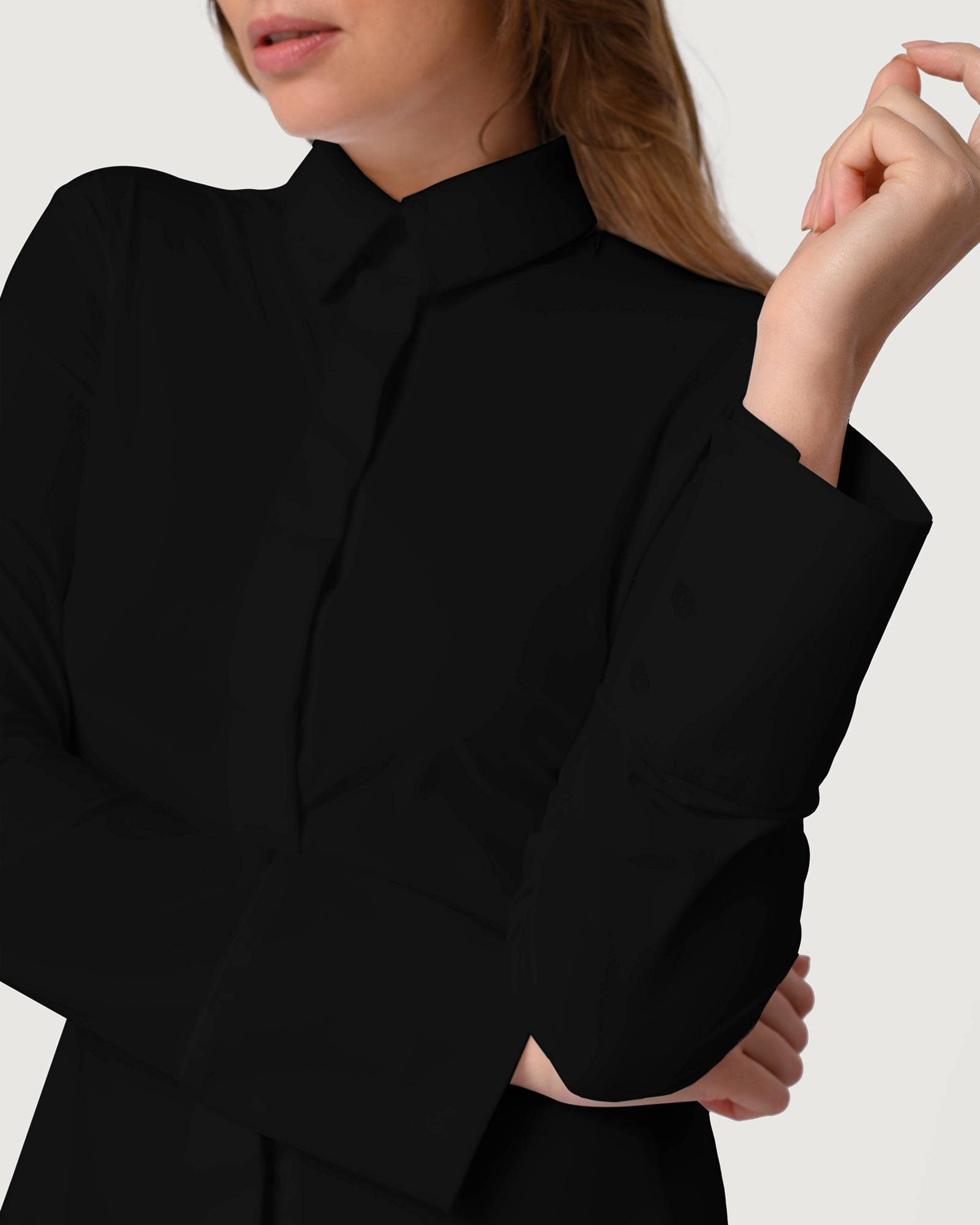 Skim Fit Blouse Black