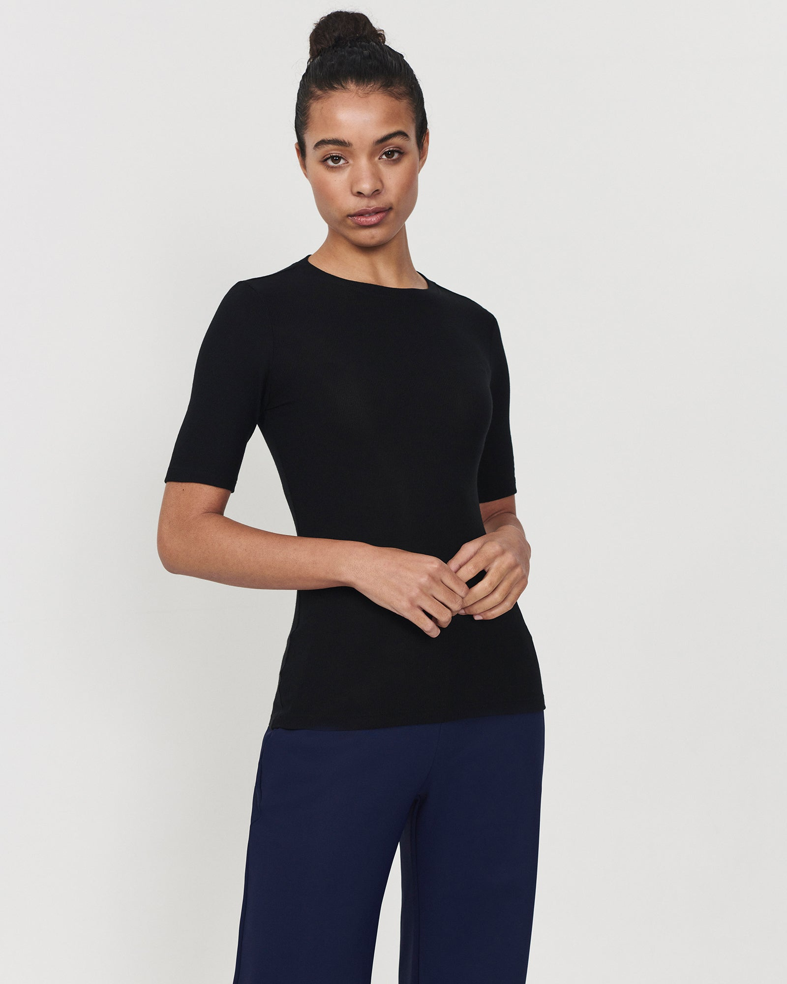 Eco Crew Top Black