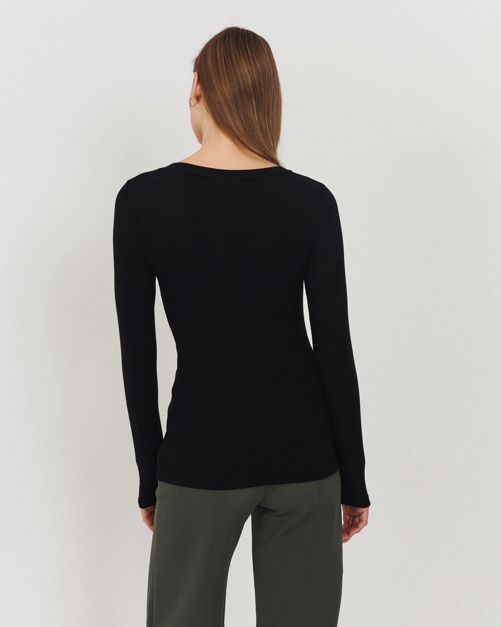 Eco V Neck Black