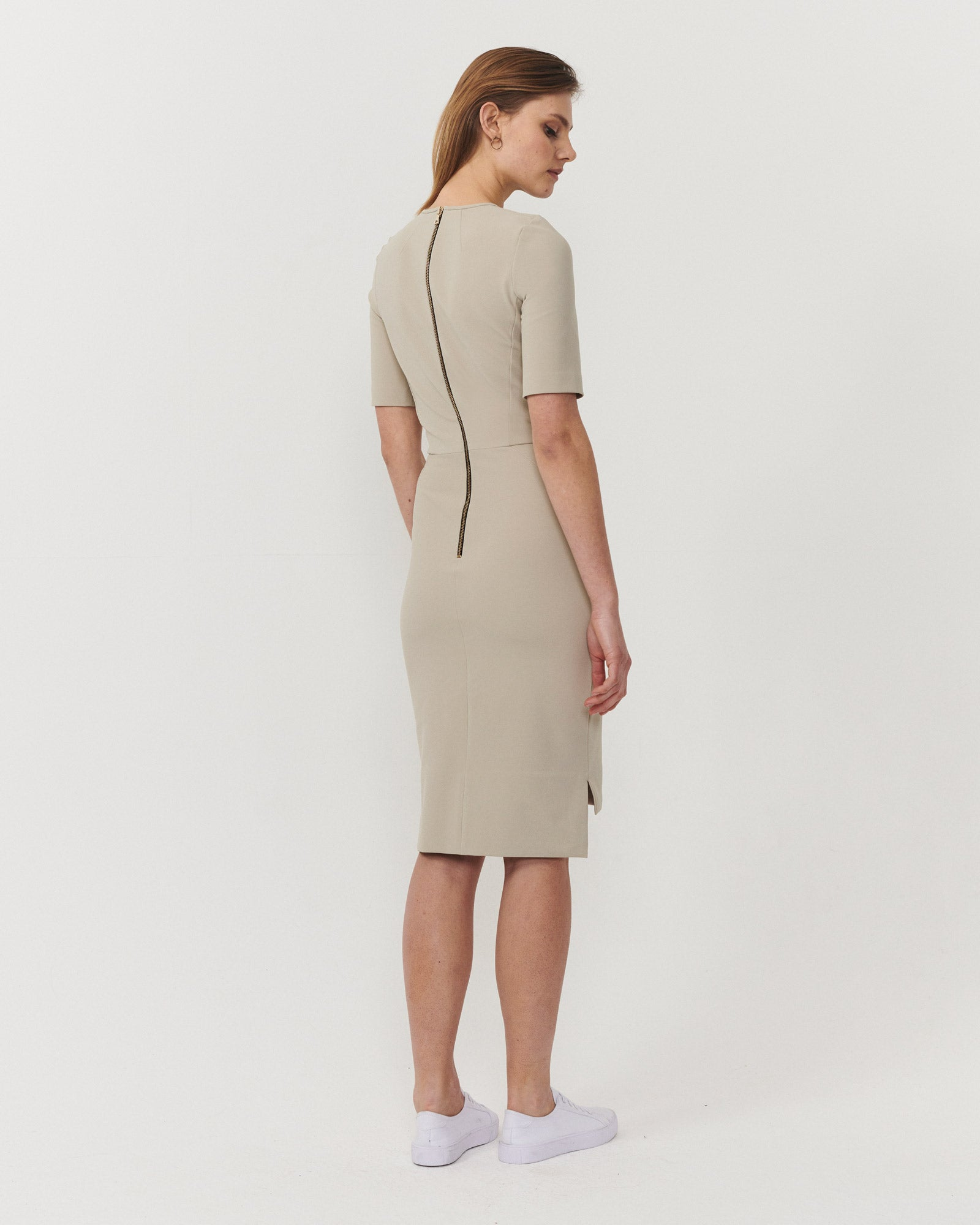 Fundamental Dress Almond