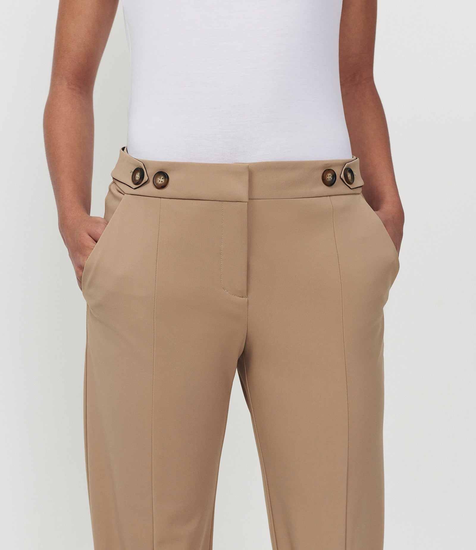 Pegged For Success Trouser Latte