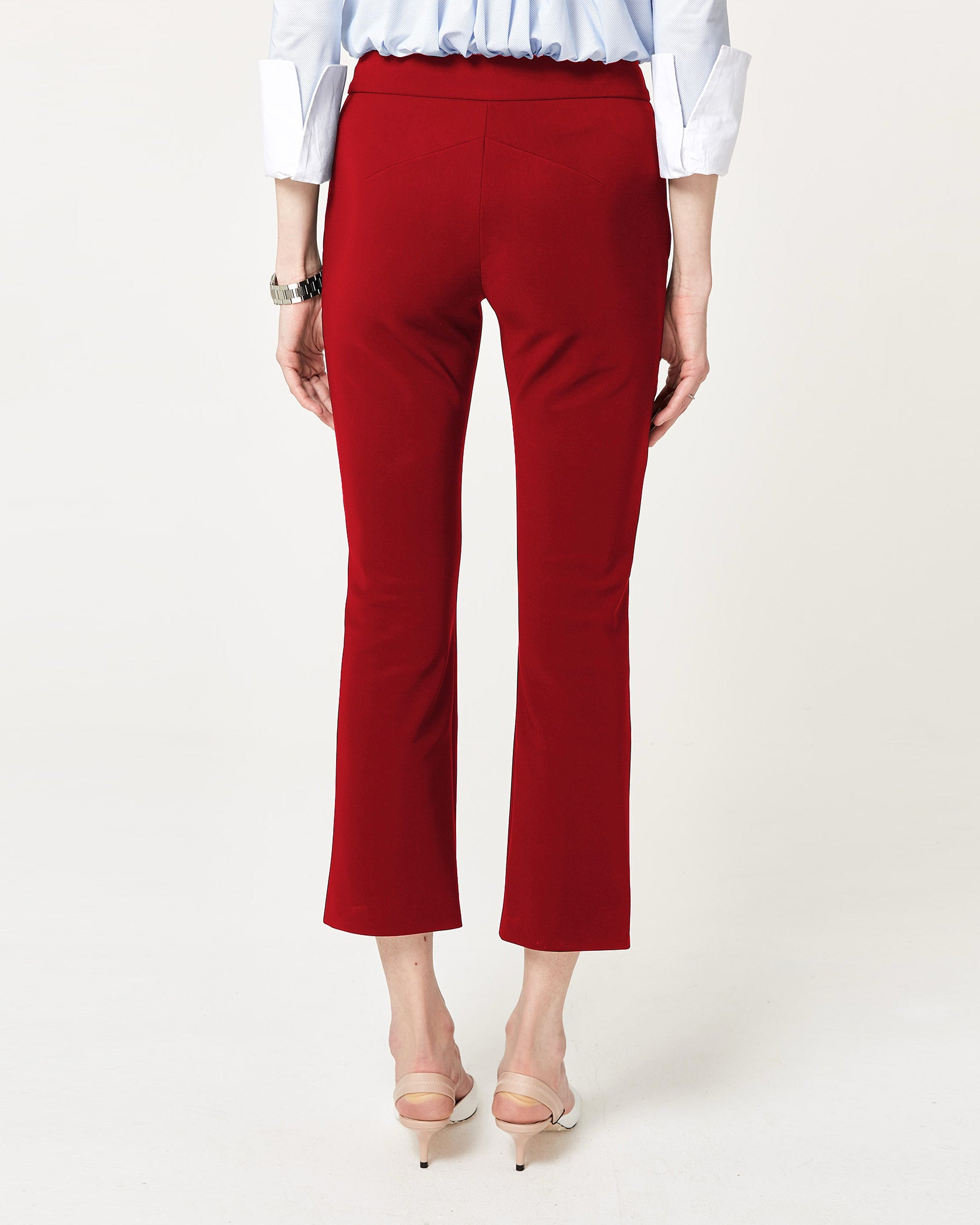 Flare Game Trousers Crimson