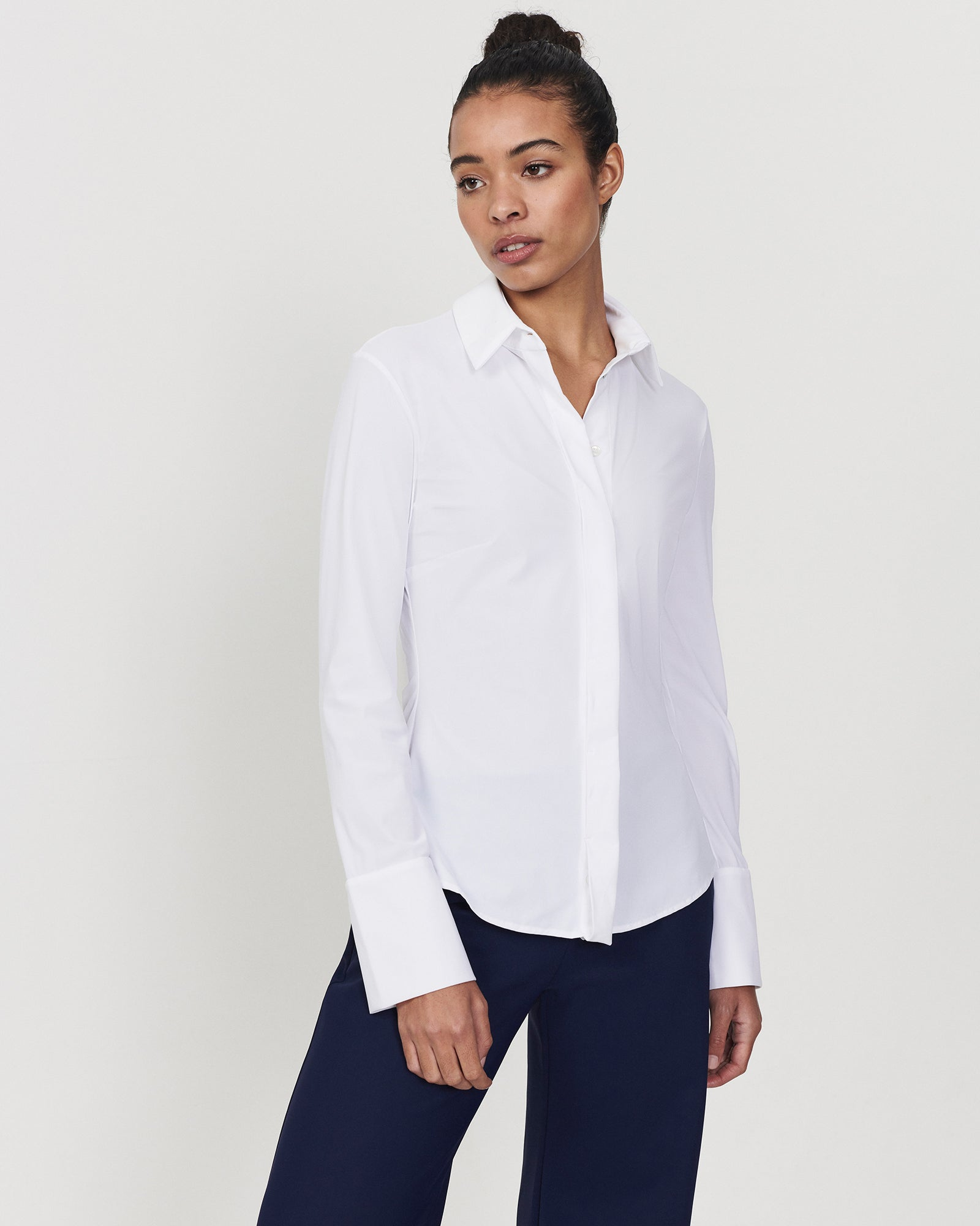 Skim Fit Blouse White