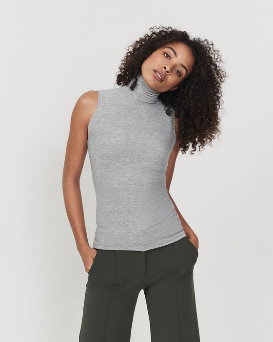 Sleeveless Eco Layer On Top Melange Grey
