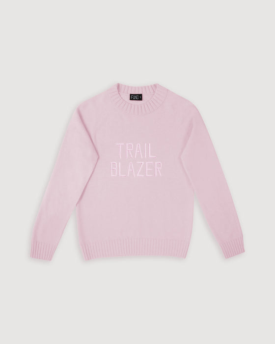 DAI x FUND Trailblazer Wool Jumper Ice Pink
