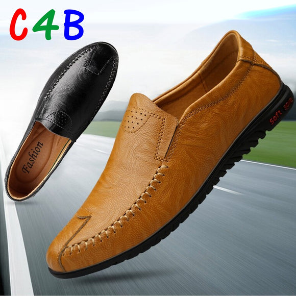 Classic Comfortable Slip On Loafers Men Casual Leather Shoes Men Flats Hot Sale Driving Shoes Moccasins Plus Size
