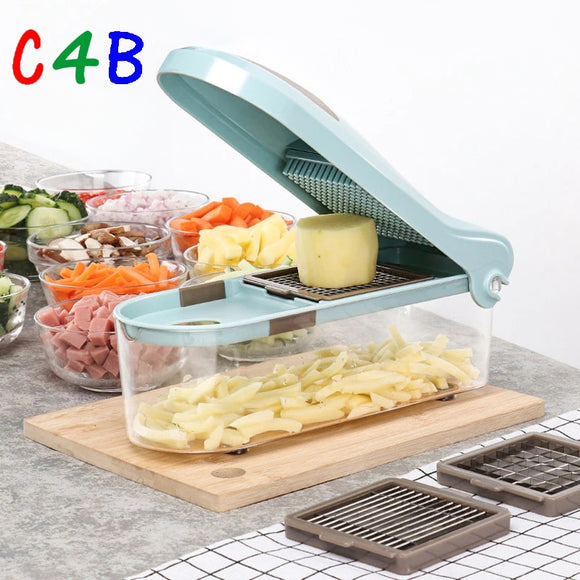 New Mandoline Slicer knife Food Chooper Manual Vegetable Cutter Garlic Grater With 3 Satianless Steel Blades kitchen Accessories