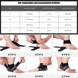 Basketball Ankle Support Brace,Elasticity Free Adjustment Protection Foot Bandage Sprain Prevention Sport Fitness Guard Band