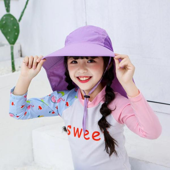 Children's large-brimmed sunhat climbing fisherman hat