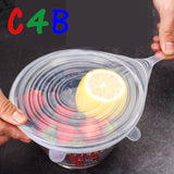 6 Pcs/Set Food Silicone Cover Cap