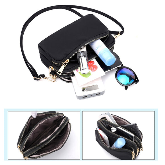Multifunctional nylon waterproof one-shoulder diagonal handbag