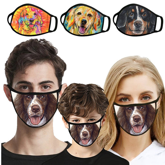 Hot sale animal funny face 3D digital printing dustproof fashion mask