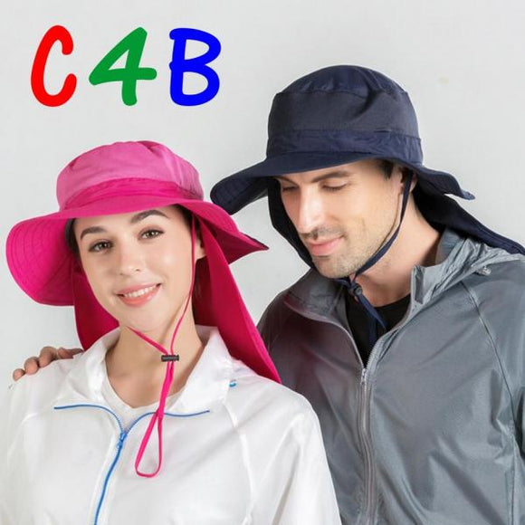 Fisherman hat outdoor sun protection cape