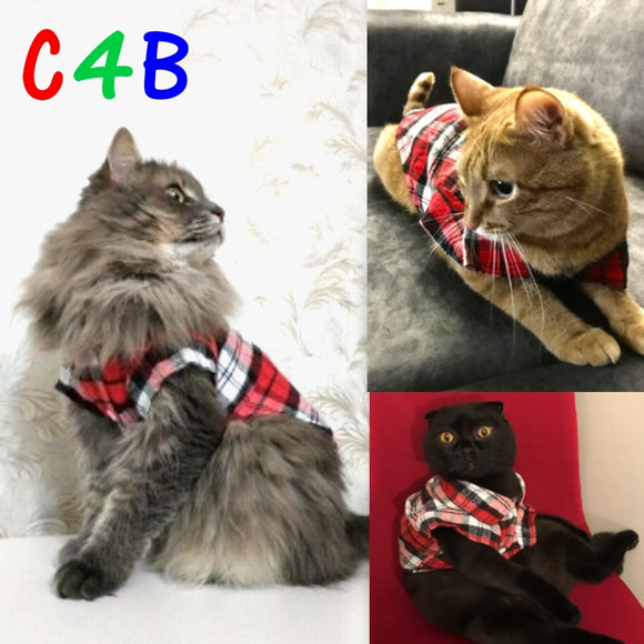 Plaid Pet Cat Clothes