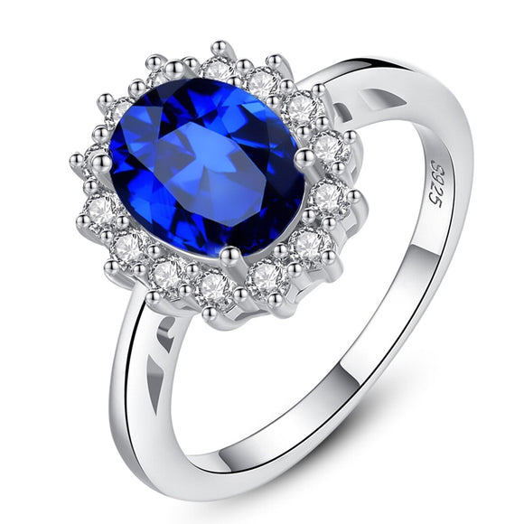 Gemstone Rings Sapphire Blue Wedding