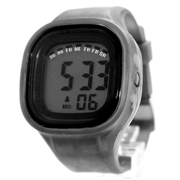 DW358C Chronograph BackLight Black Bezel Silicone Gray Band Unisex Digital Watch-WATCHES-Come4Buy eShop