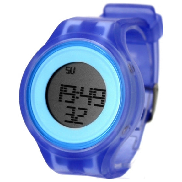 Blue Watchcase Alarm BackLight Silicone Blue Band Men Women Digital Watch DW363B-WATCHES-Come4Buy eShop