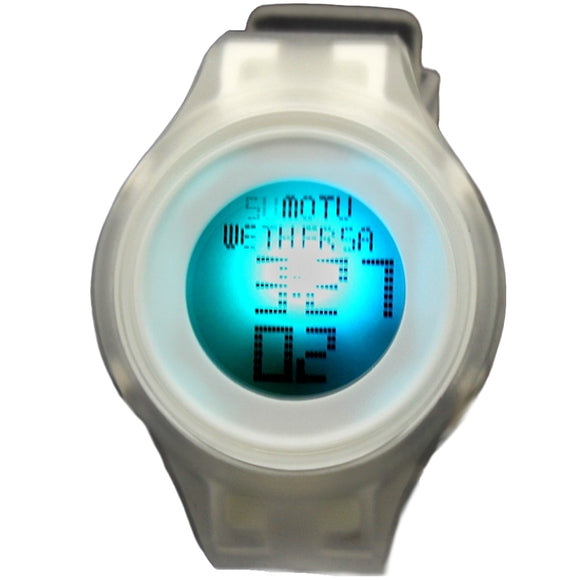 Chronograph Date Alarm BackLight Silicone White Band Unisex Digital Watch DW363C-WATCHES-Come4Buy eShop