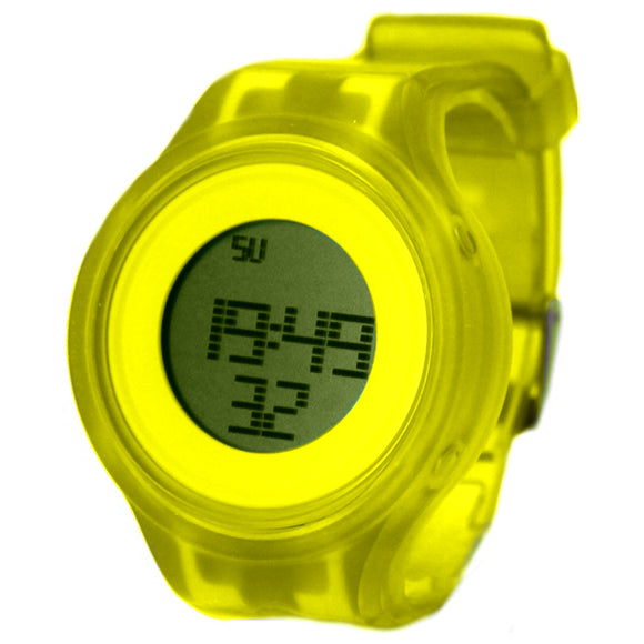 Chronograph Date Alarm BackLight Silicone Yellow Band Women Digital Watch DW363D-WATCHES-Come4Buy eShop