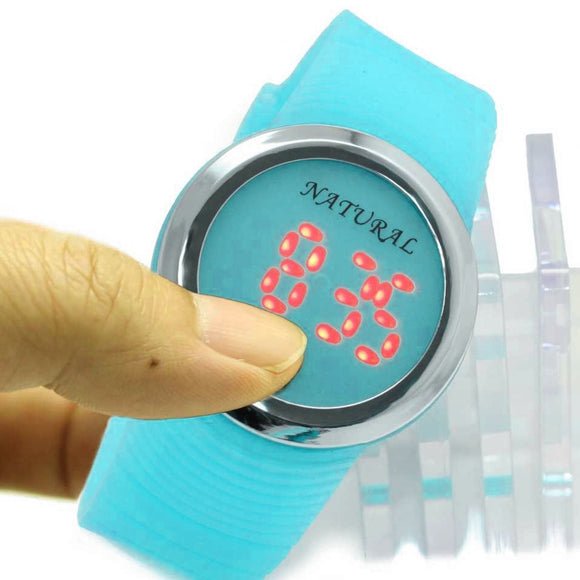 DW418D Silicone Light Blue Band Digital Watch-WATCHES-Come4Buy eShop
