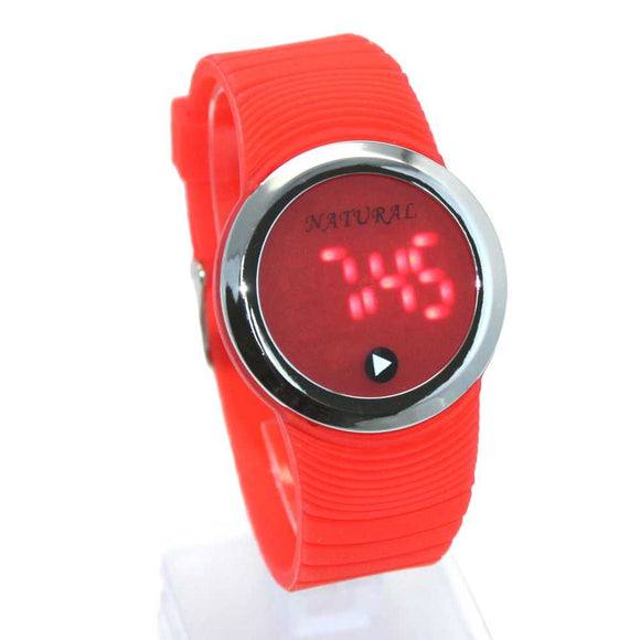 DW418F Silicone Red Band Boy Girl Digital Watch-WATCHES-Come4Buy eShop