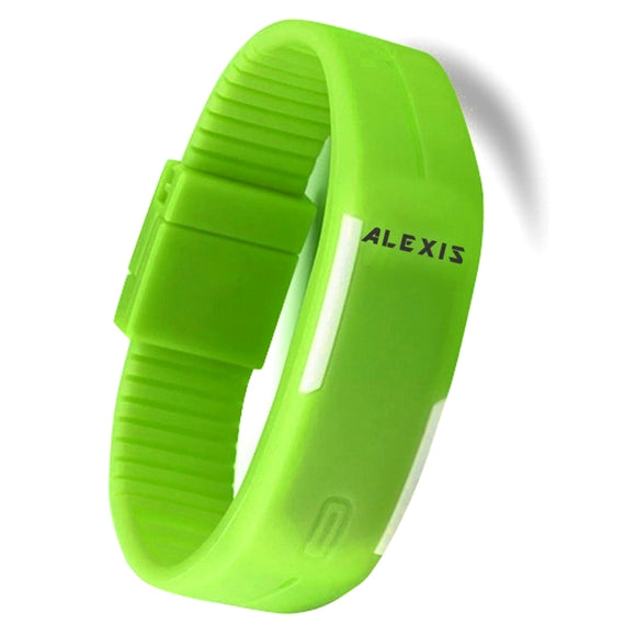 DW447G Rectangular Green Watchcase LED Silicone Green Band Unisex Digital Watch-WATCHES-Come4Buy eShop