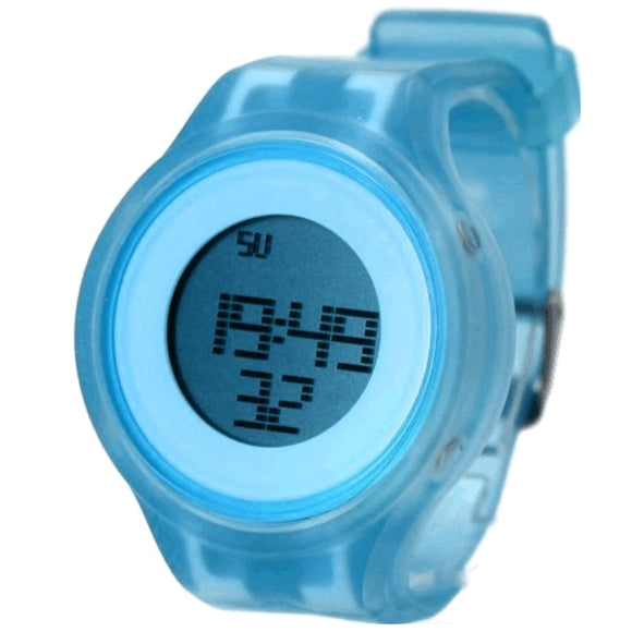 DW363E Chronograph Alarm BackLight Silicone Light Blue Band Unisex Digital Watch-WATCHES-Come4Buy eShop