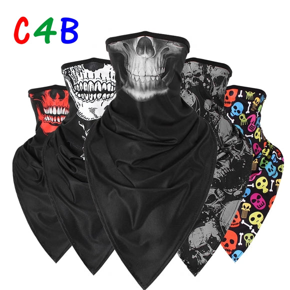 Skull Ghost Balaclava Headband Motorcycle Moto Neck Gaiter Face Shield Tube Scarf Motocross Biker Bandana Head Mask Men Girls