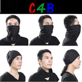 Winter Warm Motorcycle Half Face Masks Balaclava Fleece Neck Gaiter Scarf Riding Ski Paintball Airsoft Bicycle Biker Windproof (Black)