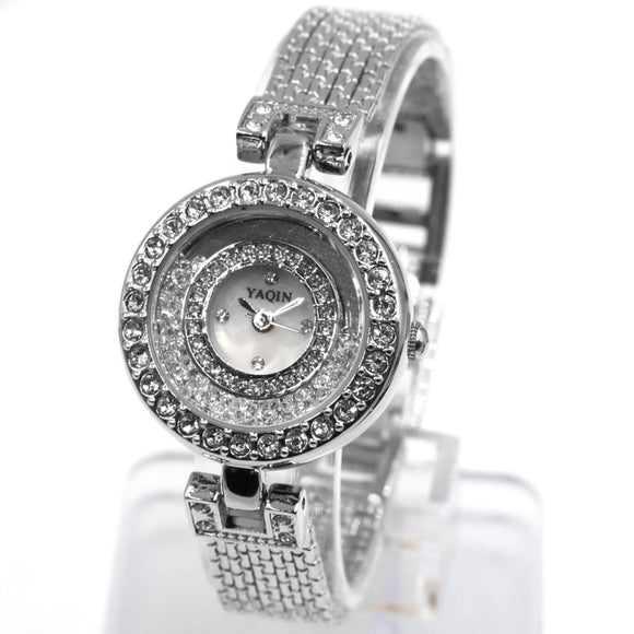 FW943B Round PNP Shiny Silver Watchcase White Dial Ladies Women Bracelet Watch-WATCHES-Come4Buy eShop