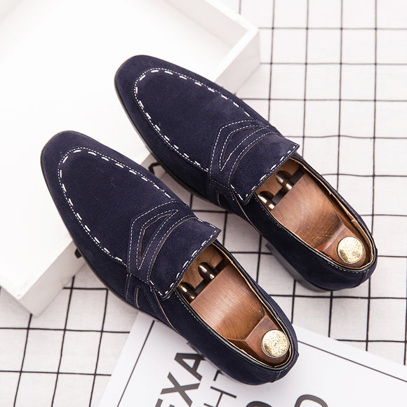 Size 38-47 Suede Men Loafers Italian Finishing Mens Oxford Shoes British Gentleman Formal Flats-Men Shoes-Come4Buy eShop