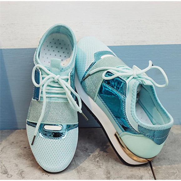 Women Sneakers Spring Pu Leather Platform Shoes Ladies Trainers Chaussure Femme Women Casual Shoes Fashion