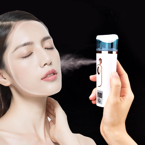 Beauty Sprayer Skin Care Tool Ultrasonic Nano Facial Mister Face Nebulizer Cooler Skin Moisture Tester Analyzer Moisturizing