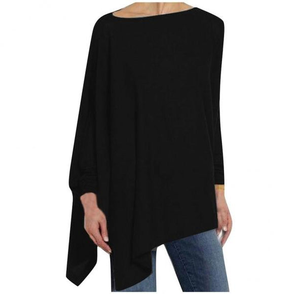 Womens Blouses Solid Color Autumn Long Sleeve Irregular Loose Ladies Tops Comfortable Girl Elegant Shirt