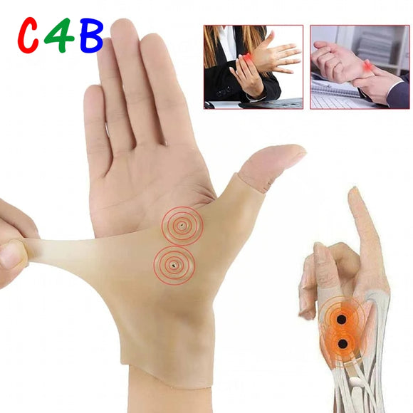Therapy Wrist Hand Thumb Support Gloves Silicone Gel Arthriti